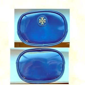 Tory Burch Navy Blue Patten Leather Case